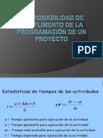 2.4 Probabilidad de cumplimiento de la Programacion de un Proyecto