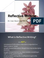 Reflective Writing Briefing BM14