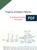 Progress of Sulphur Patients.
