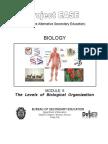 Biology M6 the Levels of Biological Organization