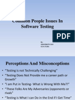 Common People Issues in Testing
