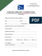 Formulaire de candidature.doc