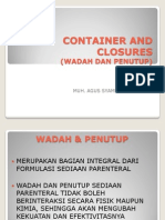 Container and Closures