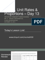 Lesson #13 - Fractions as Percents