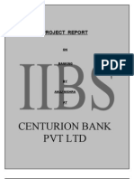 Project on Centurion Bank