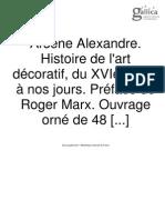 1892-Histoire de l'Art Décoratif