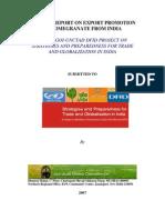 Pomogranate Export Promotion Report