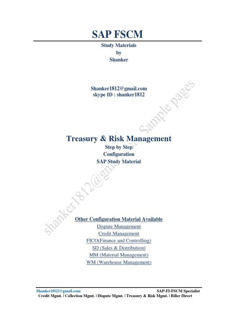 SAP TRM Configuration Guide | Financial Transaction | Derivative (Finance)