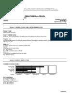 Denatured Alcohol, BI GHS 2012