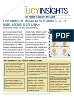 Policy Insights - Environmental Management Practices in the Hotel Sector in Sri Lanka