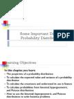 Some Important Discrete Probability Distributions