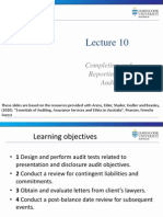 Lecture 10 Audit finalisation