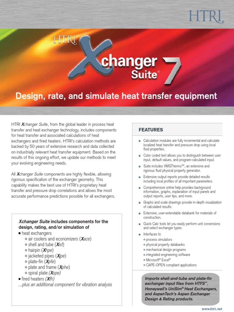 Htri Xchanger Suite 7 Hvac Heat