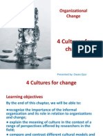 Chapter 4 - Cultures for Change