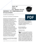 The Evolution of Environmental Management From Stage Models to Performance Evaluation