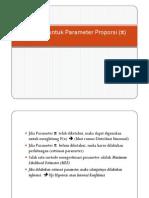 Inferensi Untuk Parameter Proporsi