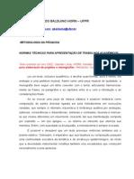 NORMAS PARA APRESENTACAO GERAL E GRAFICA DO TRABALHO ACADEMICO.doc