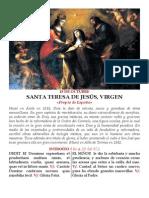 Santa Teresa de Jesús -propio de España-. 15 de octubre pdf bilingue