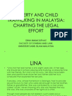 Poverty and Child Trafficking in Malaysia
