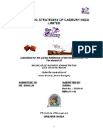 Marketing Strategies of Cadbury India Limited