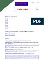 Traducciones 29 (1999)