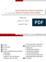 Geometrically Exact Beam Theory-Presentation by Palash Jain