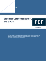 Essential Certifications in Call Centers and BPOs