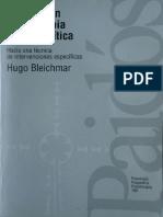 Bleichmar, Hugo - Avances en Psicoterapia Psicoanalítica - Ed. Paidós.pdf