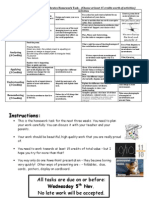 Invertebrate Homework Task Grid