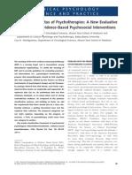 Daniel David - Evaluative Framework for Evidence-Based Psychosocial Interventions