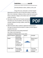types of volcanoes guided notes