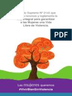 """Reglamento de la Ley Nº 348 """"Ley Integral para Garantiza a las Mujeres una Vida Libre de Violencia"""""""