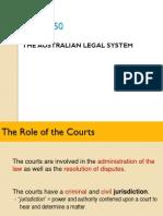 Lecture 2 (Part 1) the Australian Legal System