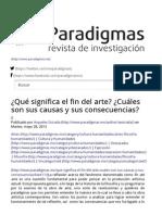 ¿Qué significa el fin del arte_ ¿Cuáles son sus causas y sus consecuencias_ _ Paradigmas.pdf