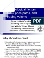 Psychological Factors Stock Price Paths And