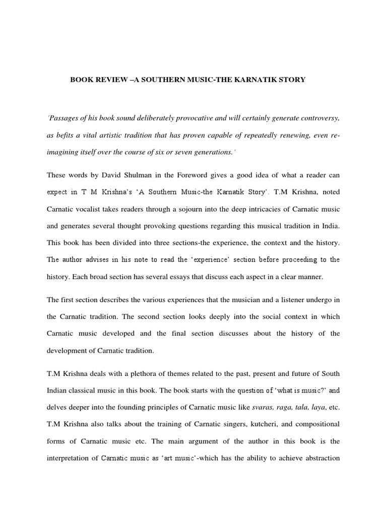 a southern music the karnatik story pdf free download
