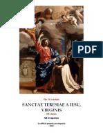 Vísperas gregorianas Santa Teresa de Jesús, virgen. 15 de octubre