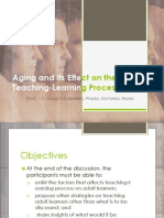 Aging and Its Effect on the Teaching-Learning Process