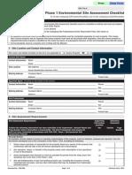 Phase 1 Environmental Site Assessment Checklist