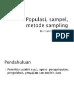 Sample , Populasi, Sampling
