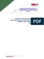 Presencia de Asociaciones de Consumidores en medios nacionales. Abril 2014