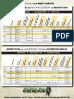 Commuter Bus Schedule Springfield Worcester Boston