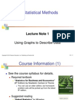 Statistics Introductory Lecture Note