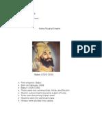 chaudhry saim talib notes mughal empire