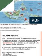 Peta dan Alat Survei untuk Tata Ruang Perbatasan