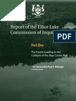 Elliot Lake judicial inquiry report (part one)