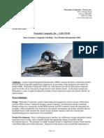 WCI Case Study - Snow Groomer NPI
