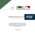 La disponibilità dei servizi di e-government a livello locale (2008)