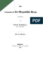 Die Münzen der Republik Bern / beschr. von Carl Lohner