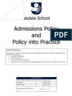 Admissions and Policy Into Practice 12